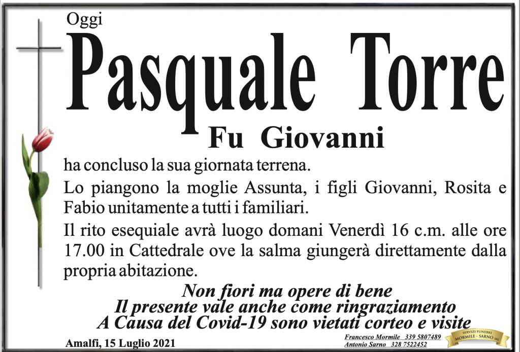 pasquale torre lutto