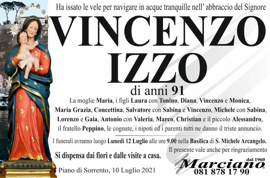 Piano di Sorrento dice addio al 91enne Vincenzo Izzo