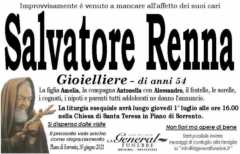 Piano di Sorrento piange la prematura perdita di Salvatore Renna
