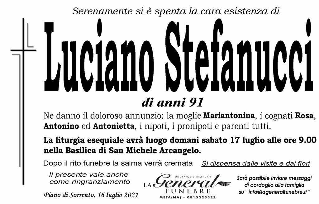 Piano di Sorrento piange la scomparsa di Luciano Stefanucci, domani i funerali