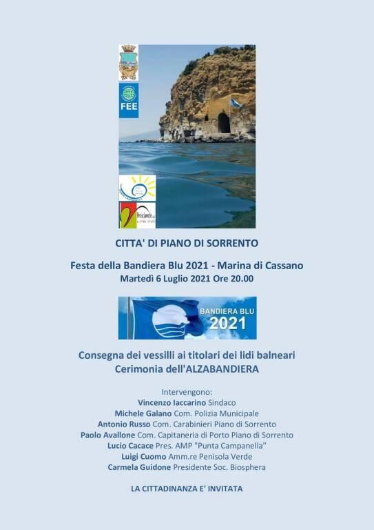 Piano di Sorrento: questa sera la festa per la Bandiera Blu 2021