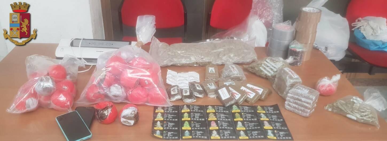 Polizia, a Eboli la casa della droga: arrestata coppia di spacciatori