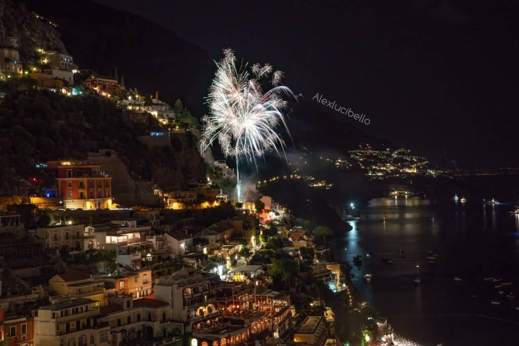 Positano festeggiamenti per la vittoria dell ' Italia
