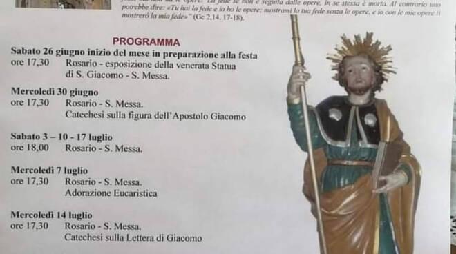 Positano, nel quartiere Liparlati solenni festeggiamenti in onore di S. Giacomo Apostolo