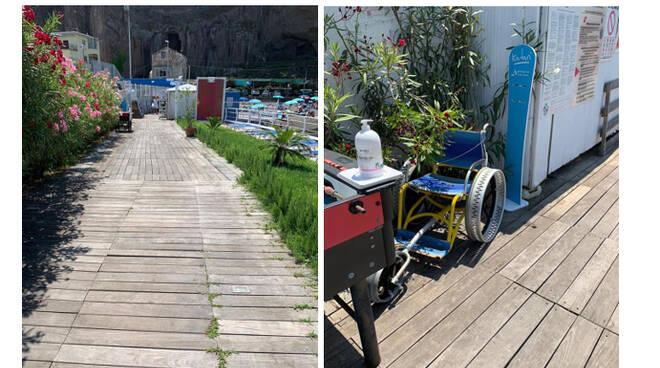 Sant'Agnello, la spiaggia libera di Caterina si prepara ad accogliere le persone con disabilità