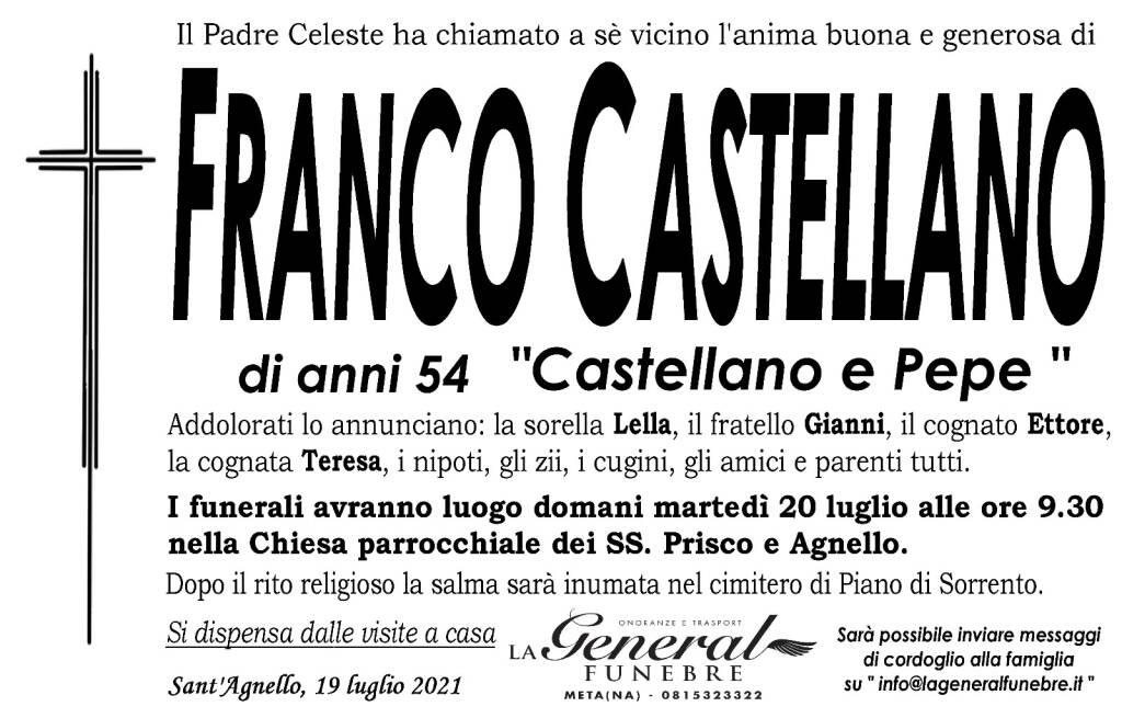 scomparsa di Franco Castellano