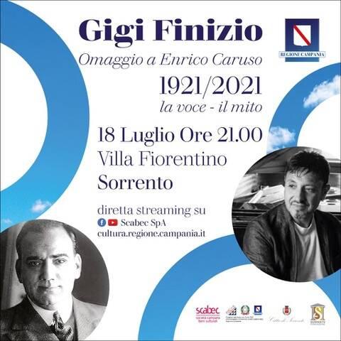 Sorrento. A Villa Fiorentino Gigi Finizio nel concerto-omaggio ad Enrico Caruso