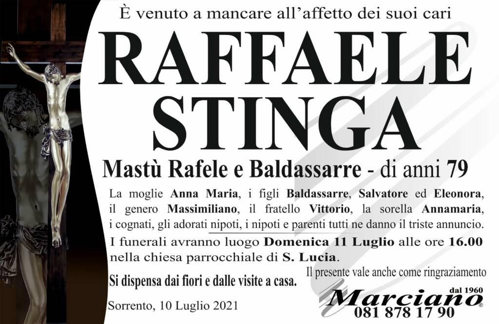 Sorrento, ci lascia il 79enne Raffaele Stinga (Mastù Rafele e Baldassarre)