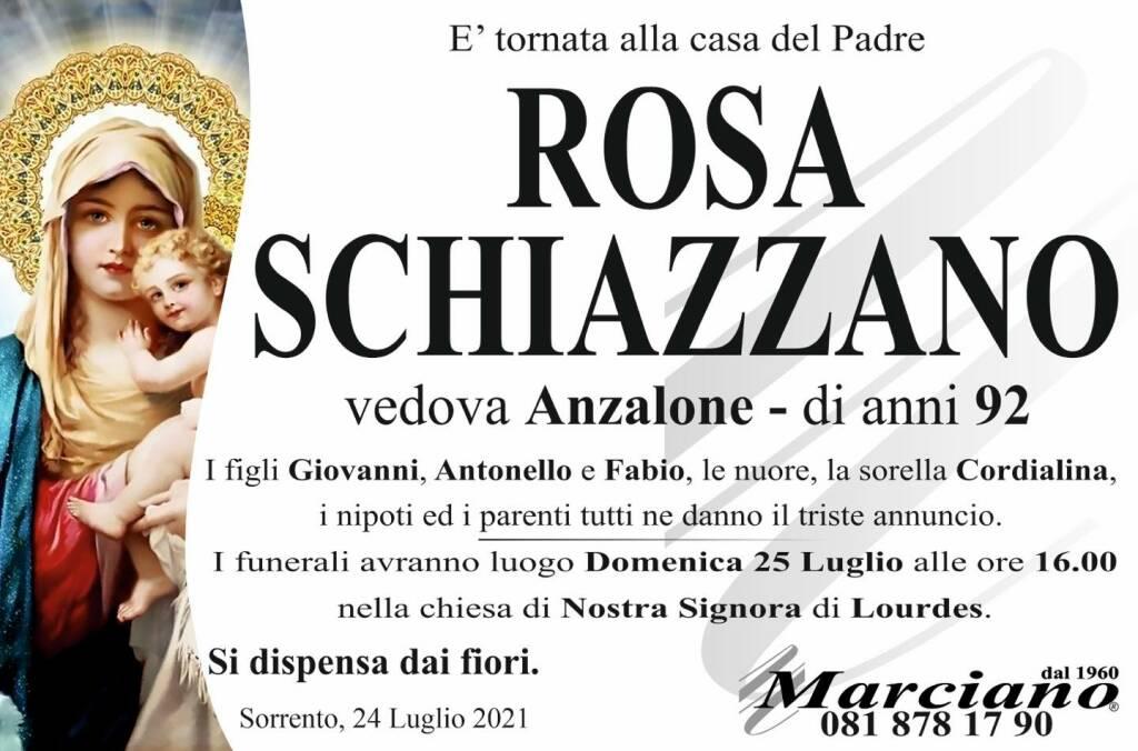 Sorrento piange la scomparsa della 92enne Rosa Schiazzano, vedova Anzalone