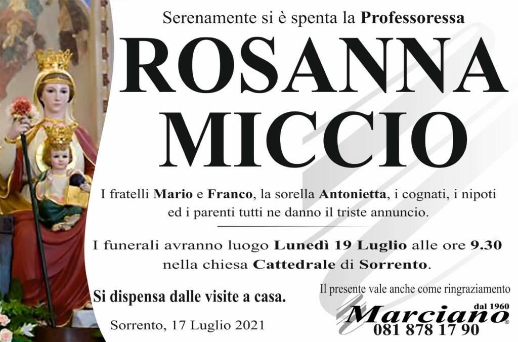 Sorrento porge l'estremo saluto alla Professoressa Rosanna Miccio