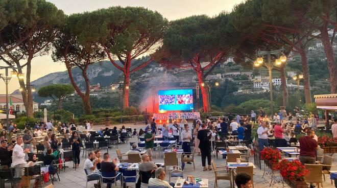 Striscione per Giorgio Filocamo a Ravello prima di Italia Inghilterra