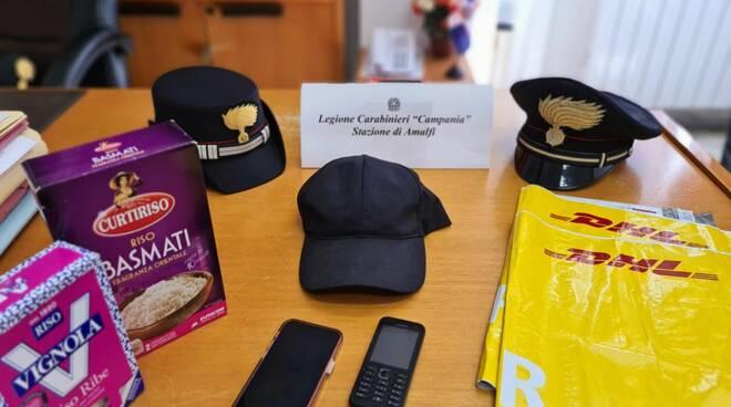 Truffatore beccato dai Carabinieri di Amalfi