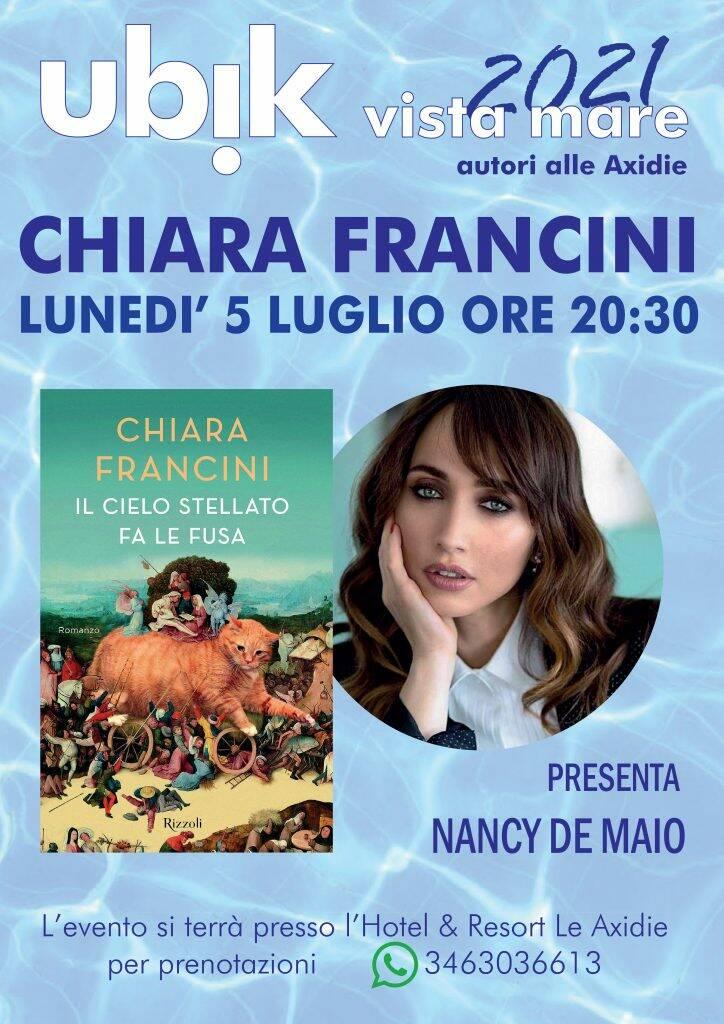 """Vico Equense. Ubik Vista Mare, autori alle Axidie: domani apre Chiara Francini con """"Il cielo stellato fa le fusa"""""""