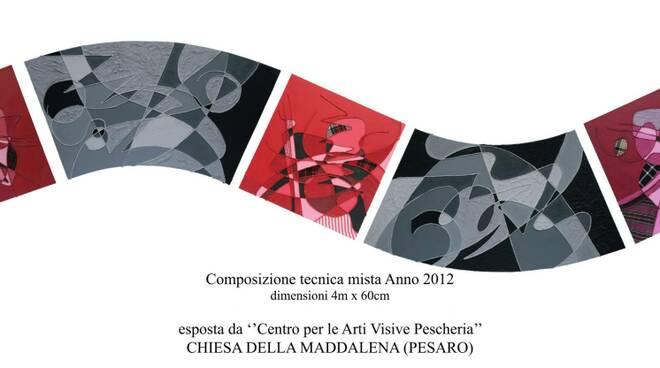 1 - Opera di Anna Donati - 2012-COMPOSIZIONE TECNICA MISTA DIMENSIONI 4M X 60 CM
