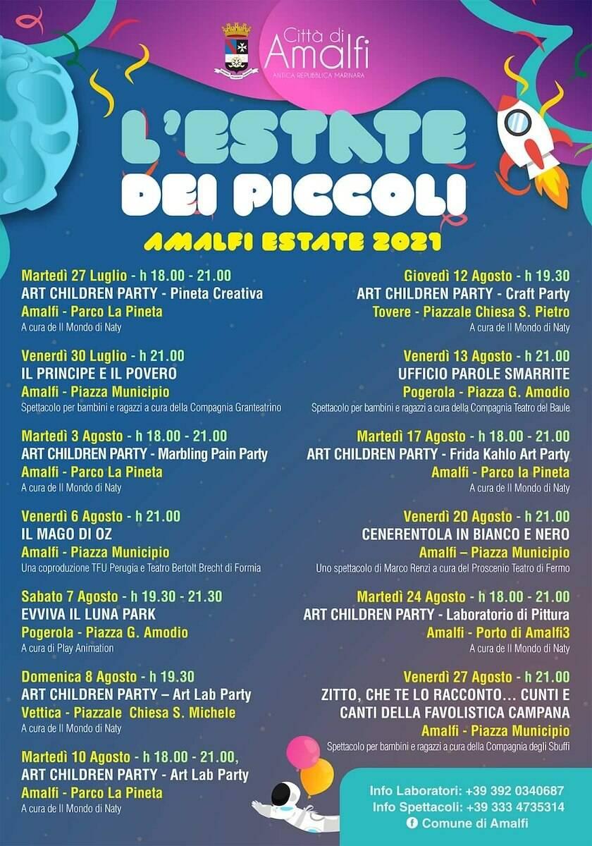 """Amalfi, """"L'estate dei piccoli"""": grande successo degli Art children party"""