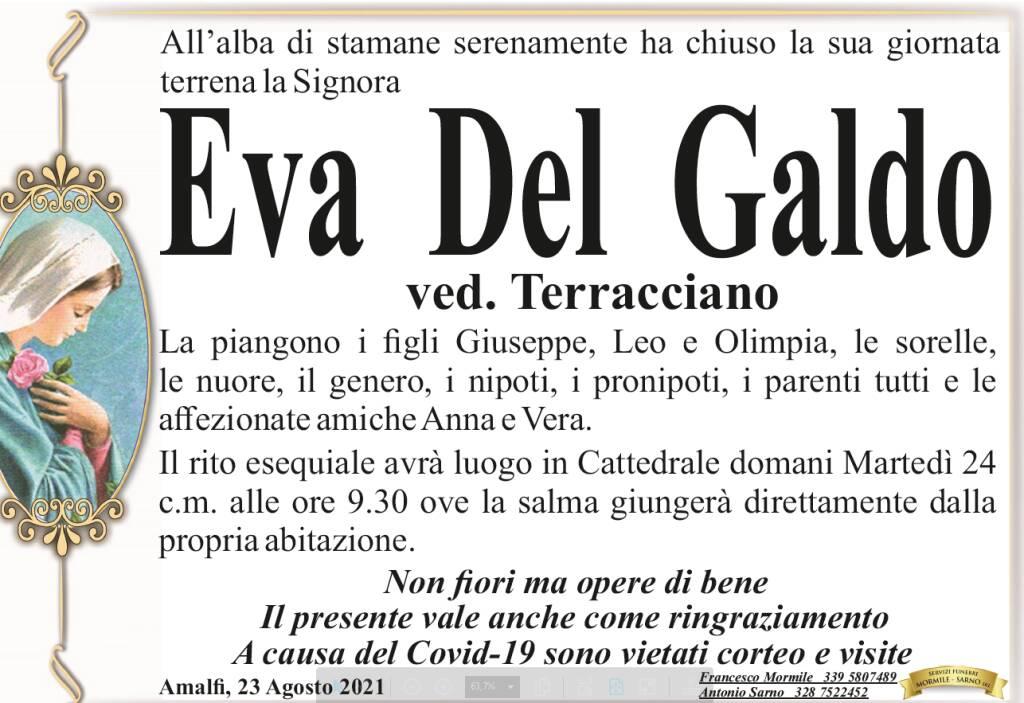 Amalfi piange la scomparsa di Eva Del Galdo vedova Terracciano
