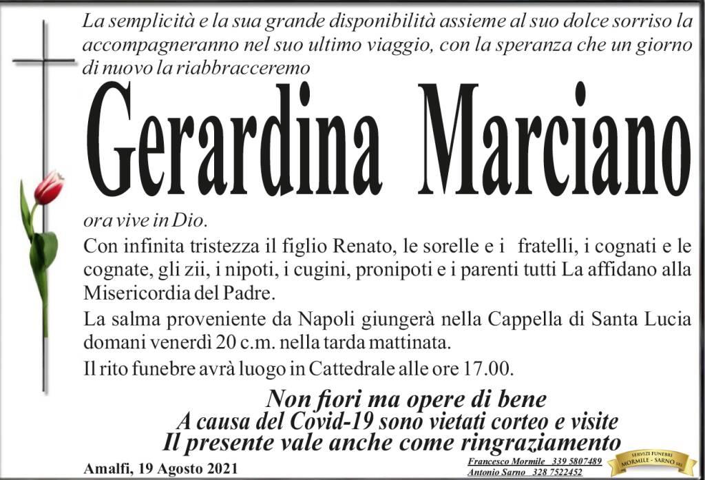 Amalfi piange  la scomparsa di Gerardina Marciano