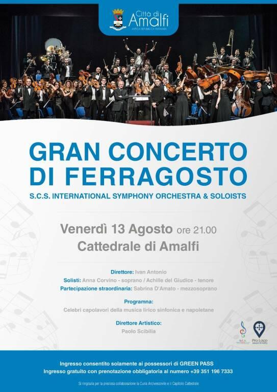"""Amalfi, torna il """"Gran Concerto di Ferragosto"""""""