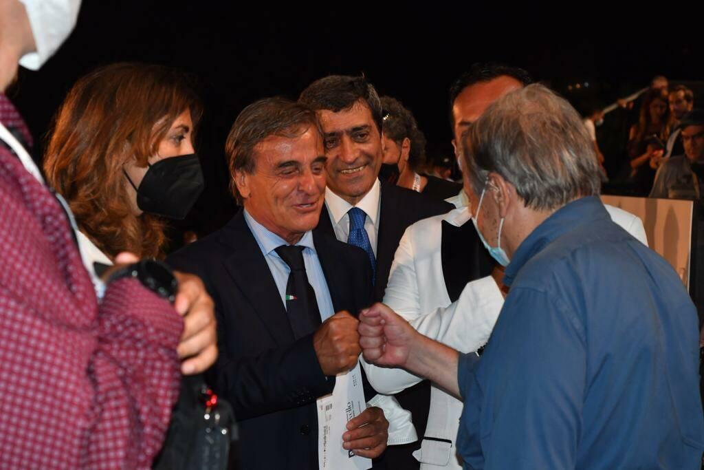 António Guterres, segretario ONU, al Ravello Festival accolto dal Presidente Diomede Falconio e dal sindaco Salvatore Di Martino