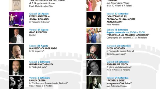 Grande attesa per gli spettacoli della Rassegna Teatrale del Cortile Maschio Angioino di Napoli