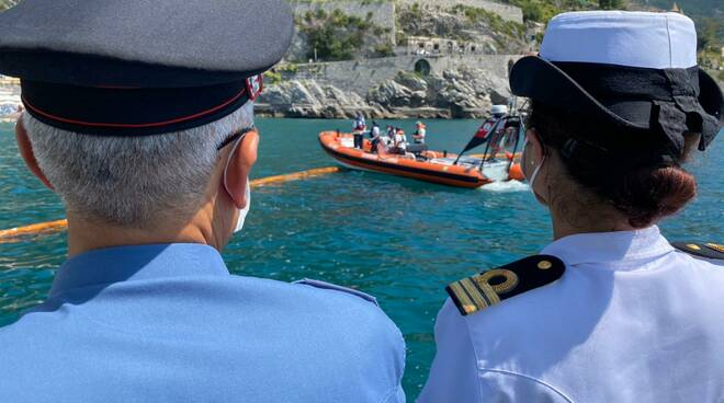 Costiera Amalfitana: Guardia Costiera e Carabinieri per la tutela delle acque dall'inquinamento. Controlli nelle acque di Minori e di Atrani