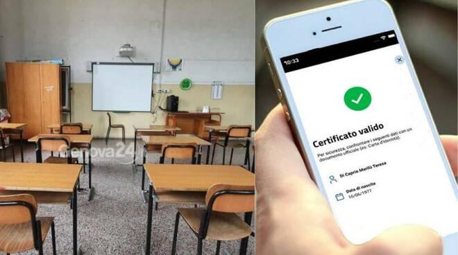 Covid-19, obbligo green pass per il personale docente