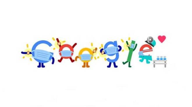 Google: il doodle animato di oggi è dedicato a Covid, vaccini e mascherine