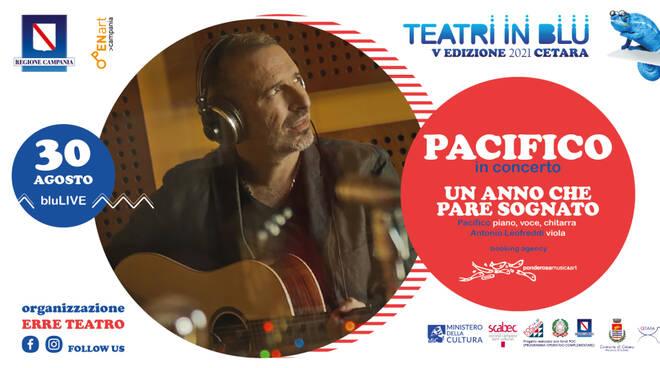 Il cantautore Pacifico a Cetara per la terza serata del Festival Teatri in Blu