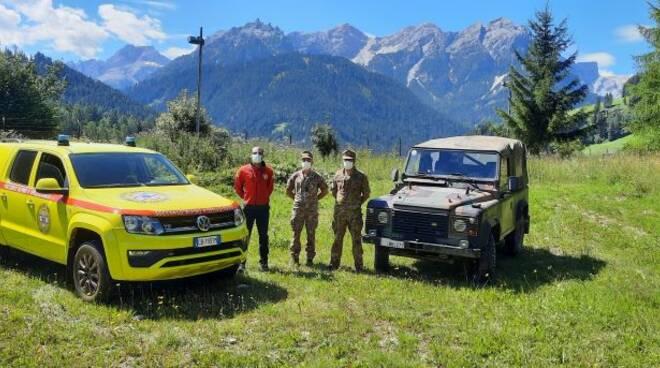 Il Soccorso Alpino e Speleologico della Campania in visita presso il Reggimento Alpini di Brunico