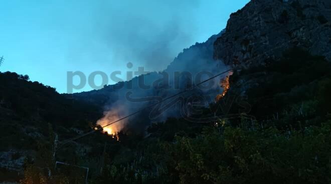 incendio Amalfi vettica e tovere