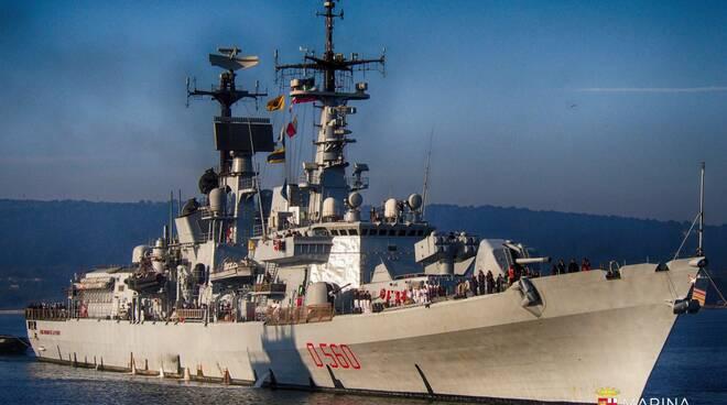 La nave Durand De La Penne in Mar Nero nell'ambito della Campagna d'Istruzione 2021 della Marina Militare