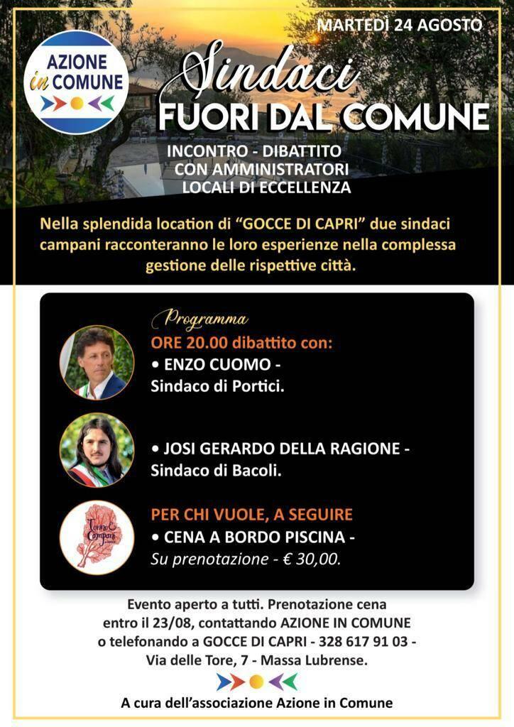 """Massa Lubrense. Al via """"Sindaci Fuori dal Comune"""""""