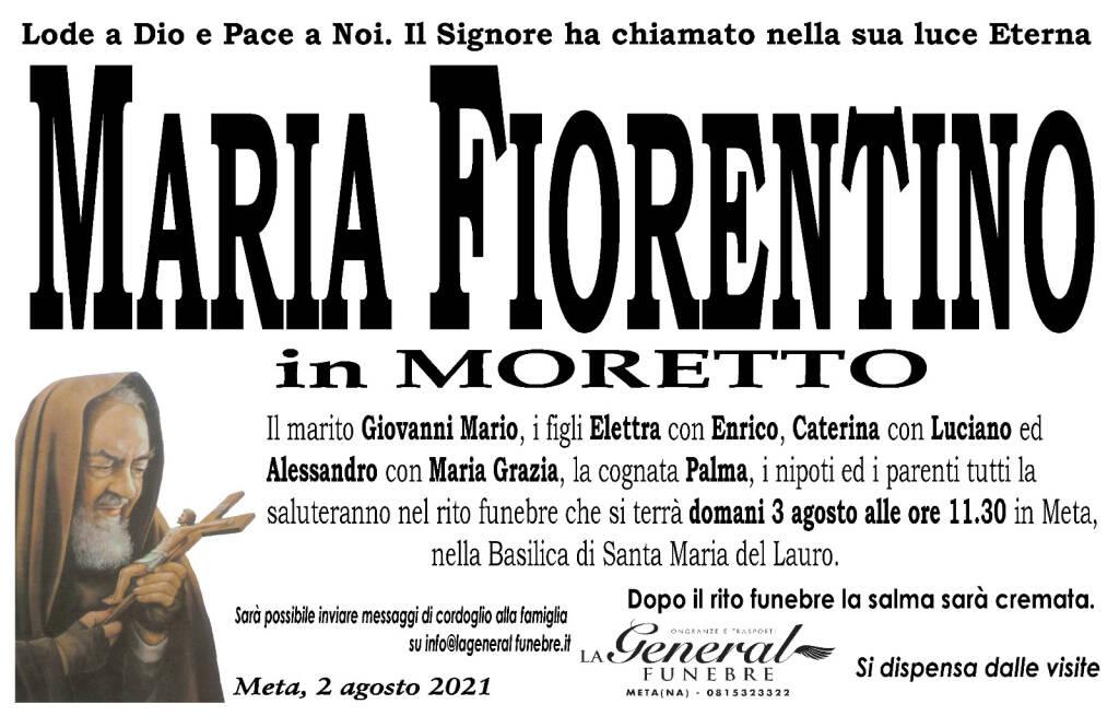 Meta: ci ha lasciati Maria Fiorentino, in Moretto