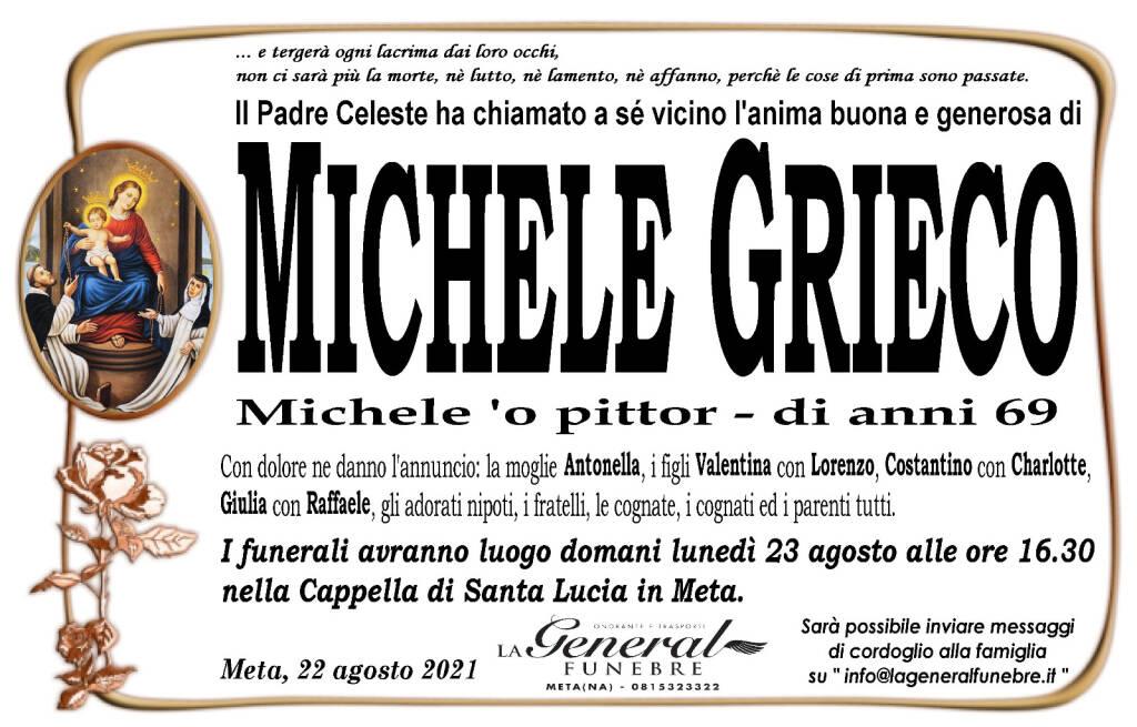 Meta piange la perdita di Michele Grieco