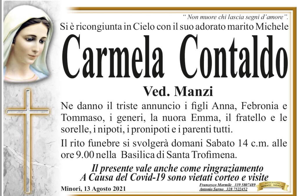 Minori piange Carmela Contaldo