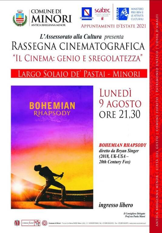 """Minori. Rassegna cinematografica """"Il Cinema: genio e sregolatezza"""""""
