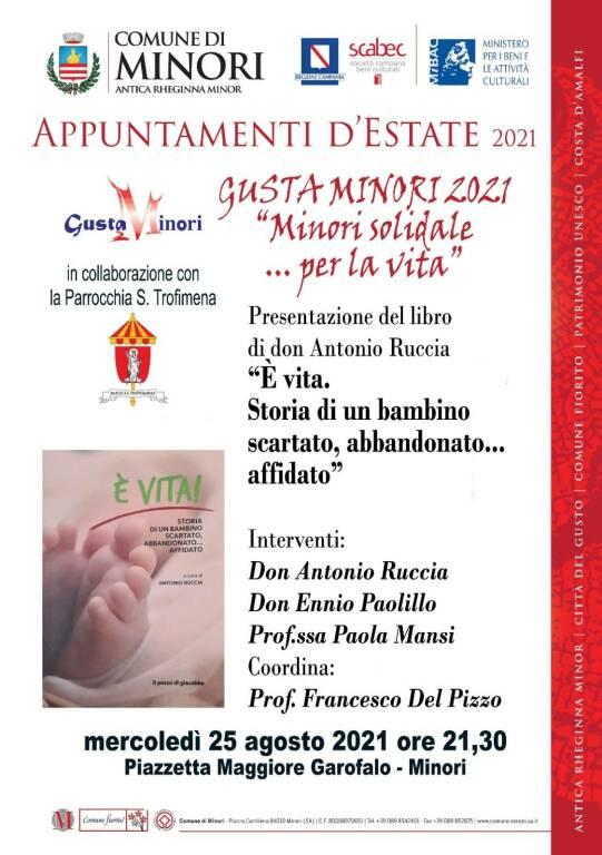 Minori solidale per la vita. La presentazione del libro di Don Antonio Ruccia nel programma della 25esima del GustaMinori