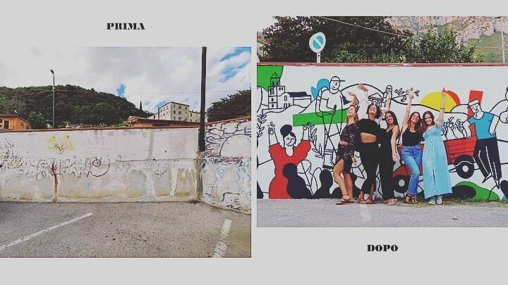 Nuovo murale a Tramonti: raffigurate le tradizioni e la cultura della Costiera
