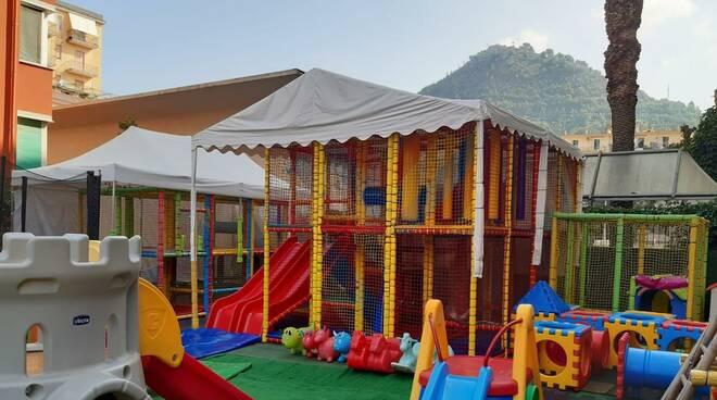 Parco giochi abusivo a Cava de' Tirreni: multa e denuncia