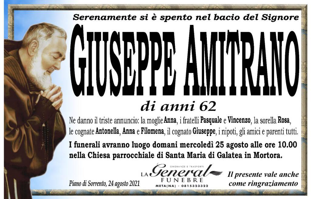 Piano di Sorrento: all'età di 62 anni si è spento Giuseppe Amitrano