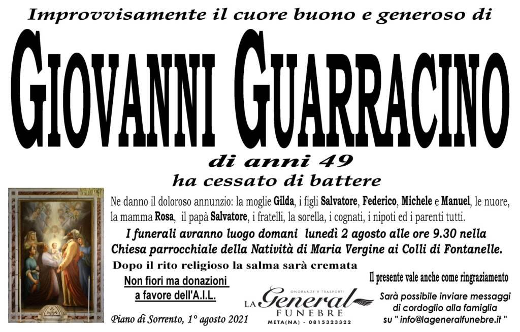 Piano di Sorrento in lutto: all'età di 49 anni il cuore buono e generoso di Giovanni Guarracino ha cessato di battere