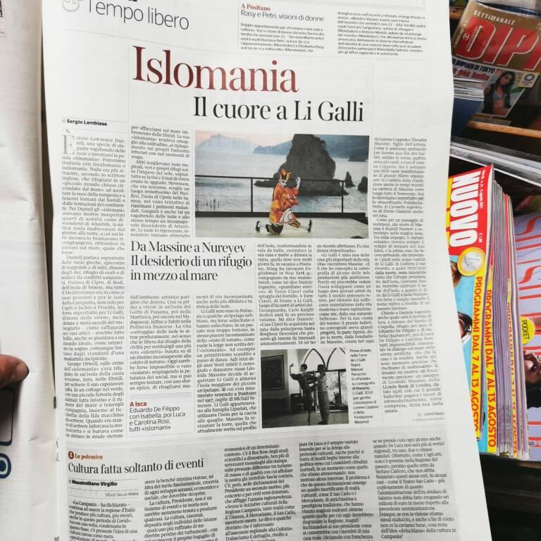 Positano, l'isola Li Galli sul Corriere della Sera