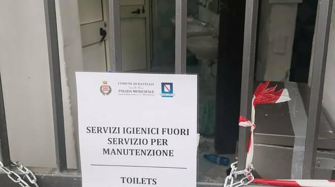 Ravello, a Ferragosto bagni pubblici chiusi