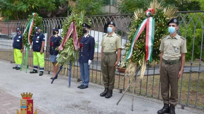 Salerno, La Polizia commemora gli Agenti della Polizia di Stato Mario De Marco e  Antonio Bandiera, Vittime del terrorismo