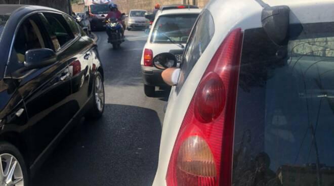 Sant'Agnello incidente in Via Iommella grande