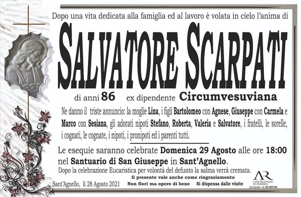 Sant'Agnello piange la scomparsa dell'86enne Salvatore Scarpati, ex dipendente Circumvesuviana