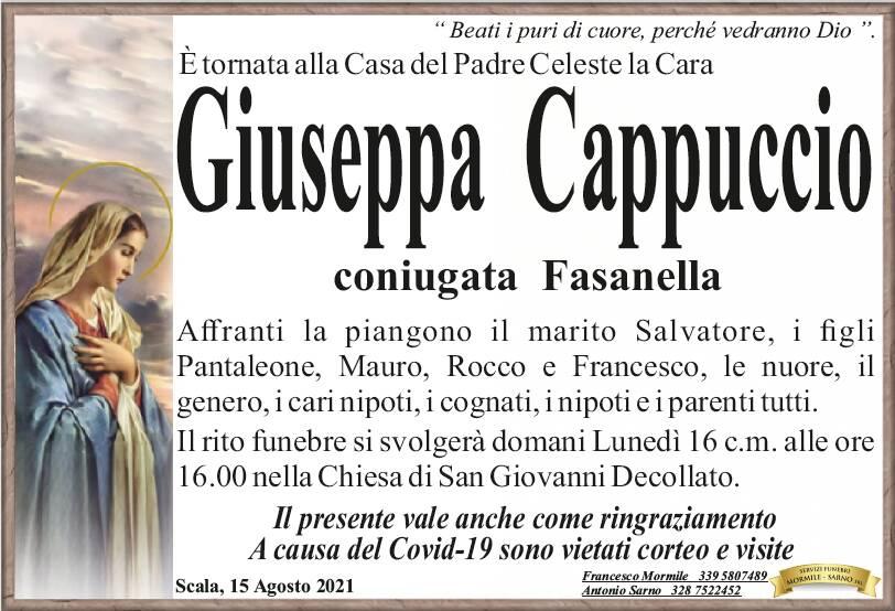 Scala in lutto: è tornata alla Casa del Padre Celeste Giuseppa Cappuccio, coniugata Fasanella