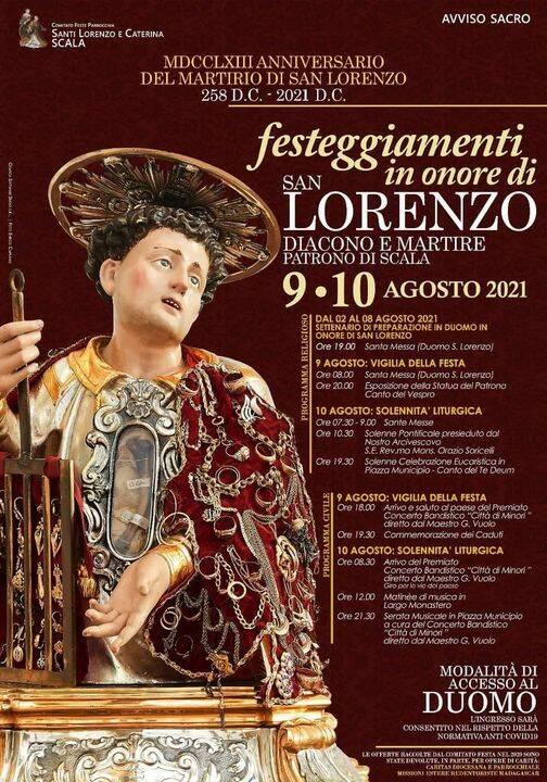 Scala si prepara a festeggiare il Patrono San Lorenzo. Ecco il programma religioso e civile