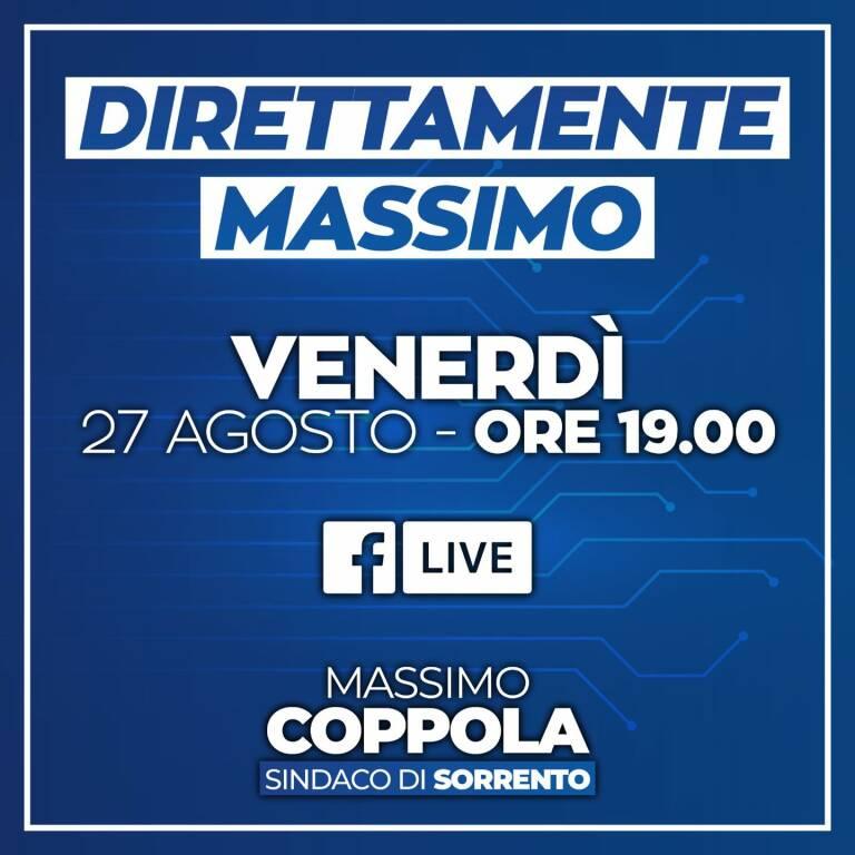 Sorrento: questa sera alle 19.00 la diretta del sindaco dall'area vaccinale di piazza Lauro