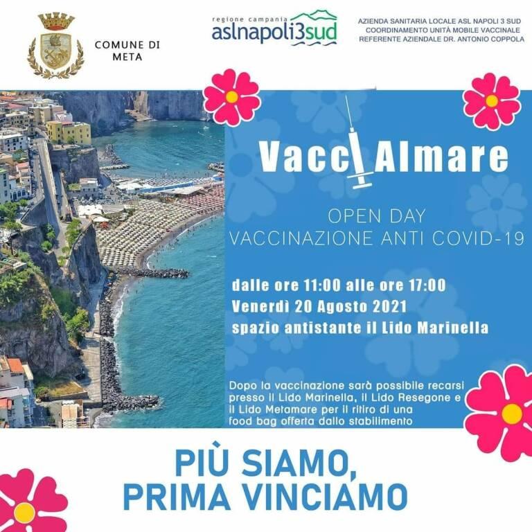 VacciAlMare: in Penisola Sorrentina i vaccini anche al mare